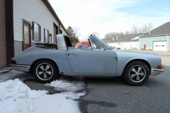 Porsche 911 S Soft Window Targa White 1968 Passenger Side View