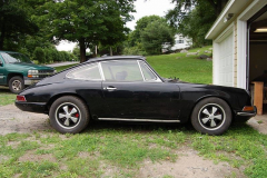 Porsche 912 Coupe Black 1968 Passenger Side View