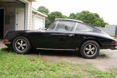 Porsche 912 Coupe Black 1968 Driver Side View