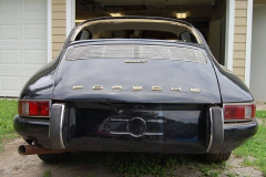 Porsche 912 Coupe Black 1968 Rear View