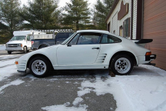 Porsche 911 Coupe Slant Nose V-8 White 1969 Driver Side View