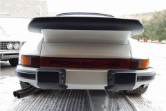 Porsche 911 Coupe Slant Nose V-8 White 1969 Rear View