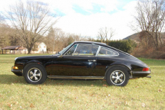 Porsche 911 E Black 1970 Driver Side View