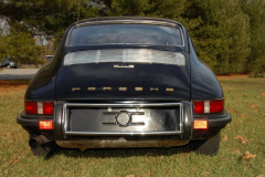 Porsche 911 E Black 1970 Rear View