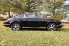 Porsche 911 E Black 1970 Passenger Side View