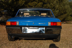 Porsche 914 6 Blue 1970 Rear View