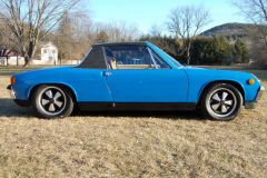 Porsche 914 6 Blue 1970 Passenger Side View
