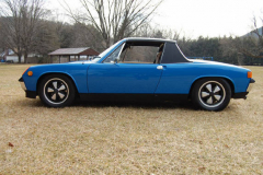 Porsche 914 6 Blue 1970 Driver Side View