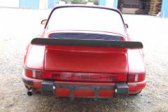 Porsche 911 T Targa Red 1971 Rear View