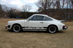 Porsche 911 Carrera White 1975 Driver Side View