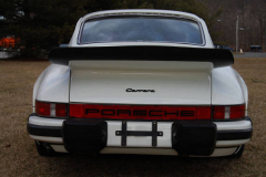 Porsche 911 Carrera White 1975 Rear View