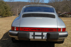 Porsche 911 Coupe Silver 1977 Rear View