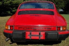 Porsche 911 SC Coupe Red 1982 Rear View