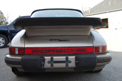 Porsche 911 SC Targa Gold 1982 Rear View