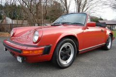 Porsche 911 SC Cab Convertible Kiln Red 1983