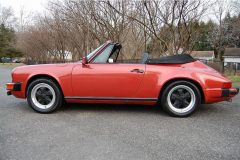 Porsche 911 SC Cab Convertible Kiln Red 1983 Driver Side View