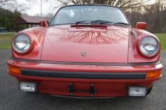 Porsche 911 SC Cab Convertible Kiln Red 1983 Front View