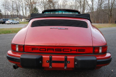 Porsche 911 SC Cab Convertible Kiln Red 1983 Rear View