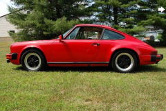 Porsche 911 SC Coupe Red 1983 Driver Side View