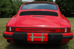 Porsche 911 SC Coupe Red 1983 Rear View