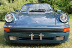 Porsche 911 SC Targa Turbo Blue 1983 Front View