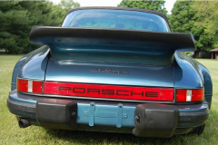 Porsche 911 SC Targa Turbo Blue 1983 Rear View