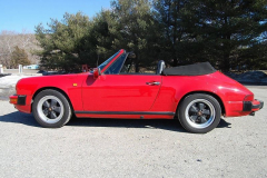 Porsche 911 Carrera Cabriolet Red 1985 Driver Side View