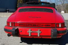 Porsche 911 Carrera Cabriolet Red 1985 Rear View