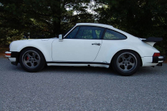 Porsche 911 Turbo White 1986 Driver Side View