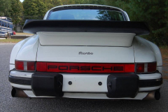 Porsche 911 Turbo White 1986 Rear View