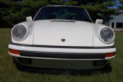 Porsche 911 Carrera Targa White 1987 Front View