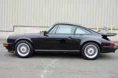 Porsche 911 Coupe Black 1987 Driver Side View