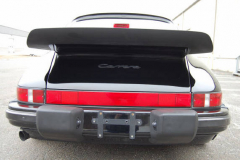 Porsche 911 Coupe Black 1987 Rear View