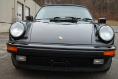 Porsche 911 Coupe Black 1987 Front View