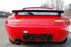 Porsche 928 S4 Red 1987 Rear View