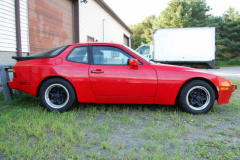 Porsche 944 Red 1987 Passenger Side View
