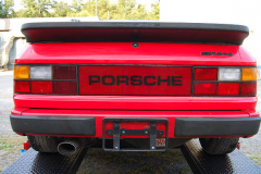 Porsche 944 Red 1987 Rear View