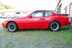 Porsche 944 Red 1987 Driver Side View