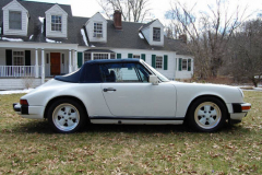 Porsche 911 Cab White 1988 Passenger Side View