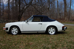 Porsche 911 Cab White 1988 Driver Side View