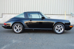 Porsche 911 Targa Black 1989 Passenger Side View