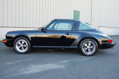 Porsche 911 Targa Black 1989 Driver Side View