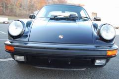 Porsche 911 Targa Black 1989 Front View