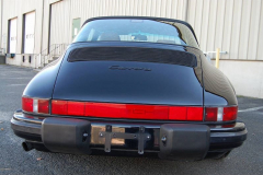Porsche 911 Targa Black 1989 Rear View