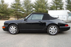 Porsche 911 Convertible Black 1991 Driver Side View