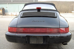 Porsche 911 Convertible Black 1991 Rear View