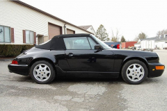 Porsche 911 Convertible Black 1991 Passenger Side View