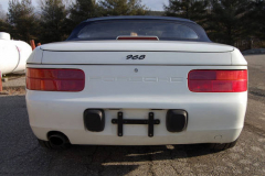 Porsche 968 White Convertible 1992 Rear View