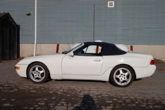 Porsche 968 White Convertible 1992 Driver Side View