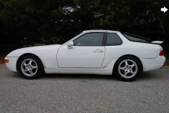 Porsche 968 Coupe White 1993 Driver Side View